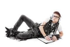 Man writing Stock Images