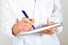 Man writing Stock Images