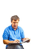 Man writing in a book Royalty Free Stock Photography