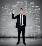Man writing business plan Royalty Free Stock Image