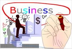 Man writing business success idea Stock Images