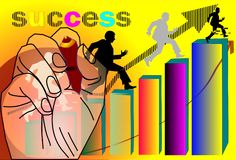 Man writing  business success team Royalty Free Stock Photography