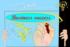 Man writing  business success team Stock Image
