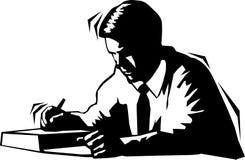 Man writing down Royalty Free Stock Photo