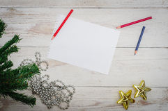 Man writing letter to Santa in Christmas situation Royalty Free Stock Photography