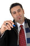Man writing with marker. Royalty Free Stock Image