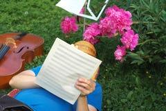 Man Writing Music Stock Photos