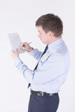 Man writing in a notebook Royalty Free Stock Photo