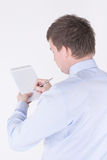 Man writing in a notebook Stock Photography
