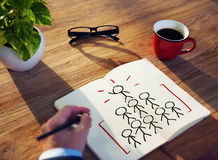 Man Writing and Planning Success Concepts Royalty Free Stock Images