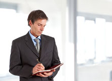 Man writing some notes Royalty Free Stock Photography