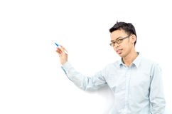 Man writing something on board Stock Image