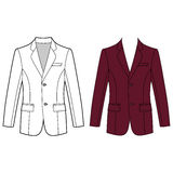 Man's buttoned jacket Royalty Free Stock Image