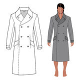 Man's coat (front view) Royalty Free Stock Photography