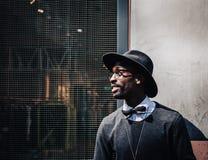 Man's Black Hat Stock Photography