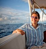 Man in a yacht Royalty Free Stock Photography