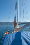 Man on a yacht Royalty Free Stock Images