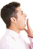 Man yawning Royalty Free Stock Images