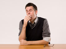A man yawning Stock Photos