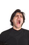 Man yawning Stock Images