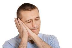 Man yawning over isolated Royalty Free Stock Photos