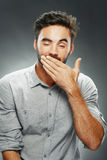 Man yawning Royalty Free Stock Photography