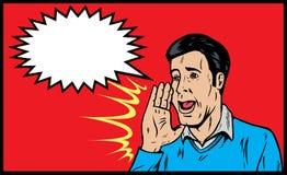 Man yelling vector illustration