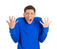 Man yelling Royalty Free Stock Photo