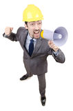 Man yelling with loudspeaker Royalty Free Stock Photo