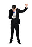 Man yelling with loudspeaker Royalty Free Stock Photo