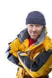 Man in yellow jacket Stock Photography