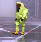 Man with yellow protective gear Stock Photos