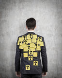 Man with yellow sticker Stock Images