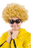 Man in yellow suit isolated Royalty Free Stock Photo