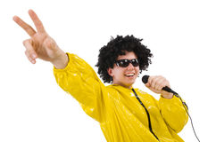 Man in yellow suit isolated Royalty Free Stock Image