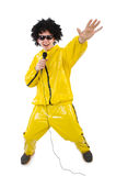 Man in yellow suit isolated Royalty Free Stock Photography
