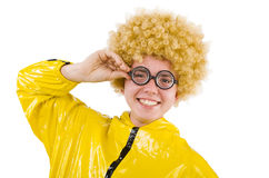 Man in yellow suit isolated Royalty Free Stock Images