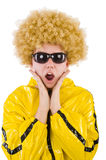 Man in yellow suit isolated Stock Photo
