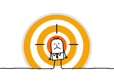 Man on yellow target royalty free illustration
