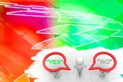 Man With Yes Or No People Illustration Stock Images
