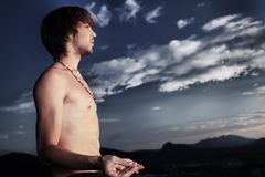Man Yoga Royalty Free Stock Photography