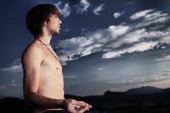 Man yoga Royalty Free Stock Photography
