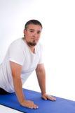 Man Yoga Mat Royalty Free Stock Image