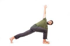 Man in yoga pose Royalty Free Stock Photo