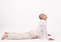 Man in yoga position. Stock Photography