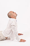 Man in yoga position. Royalty Free Stock Images