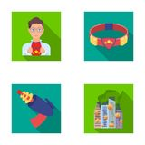 Man, young, glasses, and other web icon in flat style. Superman, belt, gun icons in set collection. Man, young, glasses, and other  icon in flat style. Superman Royalty Free Stock Photos
