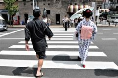 A Kyoto street in Japan stock photography