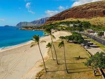 Mana Kai Beach Aerial View foto de archivo libre de regalías