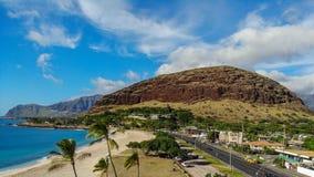 Mana Kai Beach Aerial View foto de archivo